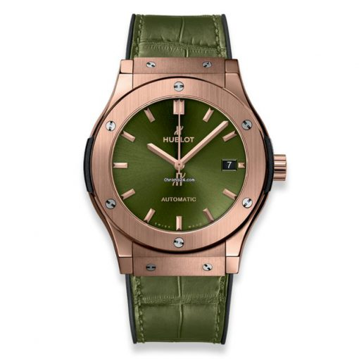 Hublot Classic Fusion Green King Gold Unisex Watch, 542.OX.8980.LR