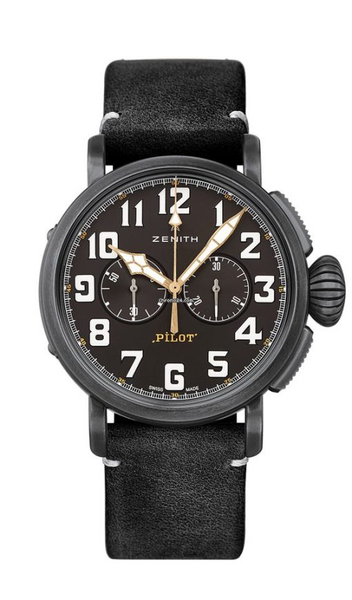 Zenith Pilot Type 20 Chronograph Ton-Up Aged Stainless Steel Men's Watch, 11.2432.4069/21.C900