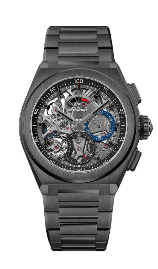 Zenith Defy El Primero 21 Chronograph Black Ceramic Men's Watch, 49.9000.9004/78.M9000