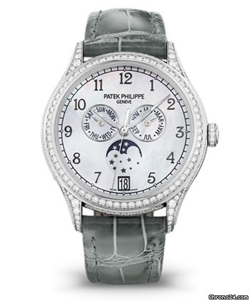 Patek Philippe Complications 38mm 18K White Gold Ladies' Watch, 4948G-010