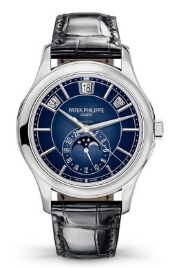 Patek Philippe Complications Moonphase 18k White Gold Men's Watch 5205G-013