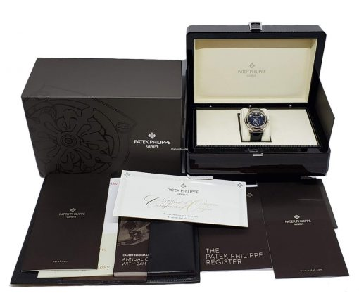 Patek Philippe Complications Moonphase 18k White Gold Men's Watch, 5205G-013 4