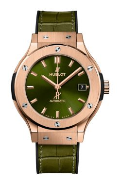 Hublot Classic Fusion Green King Gold Unisex Watch 565.OX.8980.LR