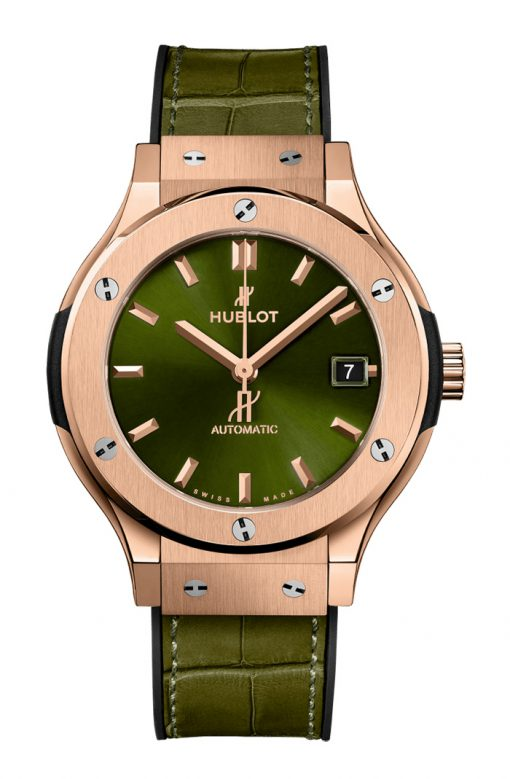 Hublot Classic Fusion Green King Gold Unisex Watch, 565.OX.8980.LR