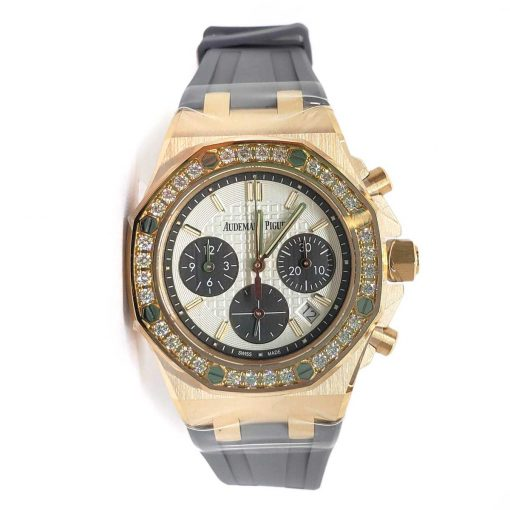 Audemars Piguet Royal Oak Offshore Selfwinding Chronograph 18K Pink Gold & Diamonds Ladies Watch, 26231OR.ZZ.D003CA.01