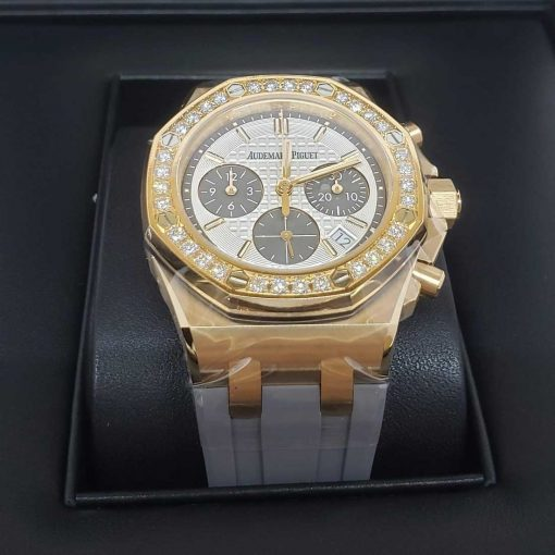 Audemars Piguet Royal Oak Offshore Selfwinding Chronograph 18K Pink Gold & Diamonds Ladies Watch, 26231OR.ZZ.D003CA.01 2