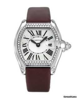 Cartier Roadster 18k White Gold & Diamonds Ladies Watch preowned.WE500260