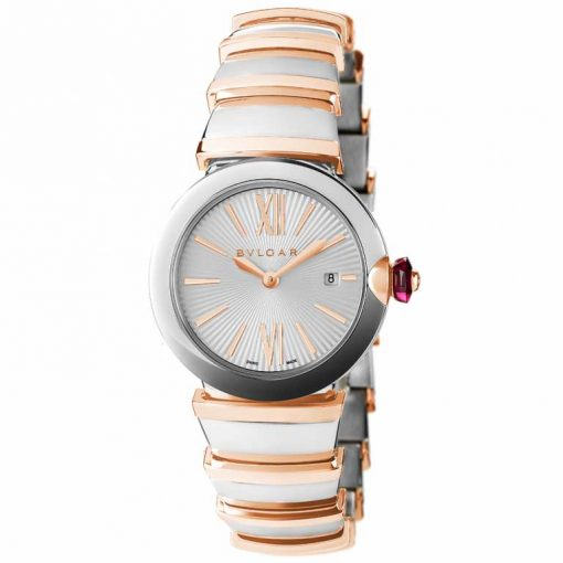 Bvlgari Lvcea Stainless Steel & 18K Rose Gold Ladies Watch, LU33WSPGSPGD/11-102198 2