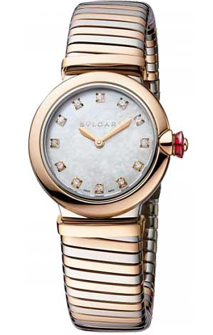 Bvlgari Lucea Stainless Steel & 18K Rose Gold Ladies Watch, LU28WSPGSPG/12.T-102952
