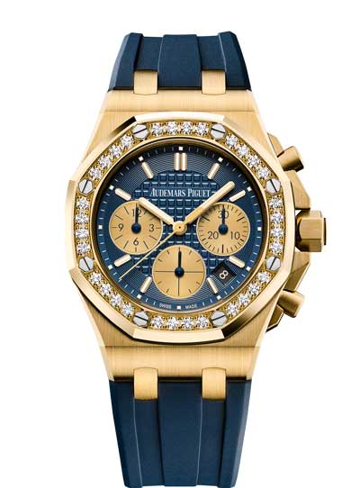 Audemars Piguet Royal Oak Offshore Selfwinding Chronograph 18K Yellow Gold Ladies Watch, 26231BA.ZZ.D027CA.01