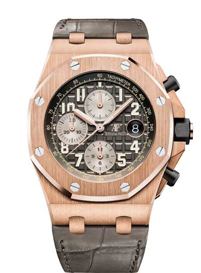 Audemars Piguet Royal Oak Offshore Selfwinding Chronograph 18K Pink Gold Men's Watch, 26470OR.OO.A125CR.01