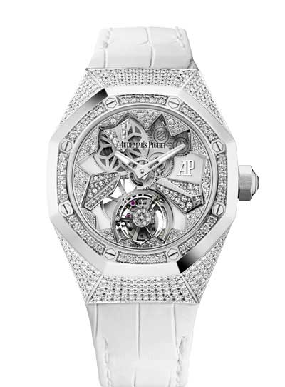 Audemars Piguet Royal Oak Concept Flying Tourbillon 18K White Gold Ladies Watch, 26227BC.ZZ.D011CR.01