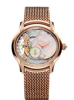 Audemars Piguet Millenary Frosted Gold Opal Dial Ladies Watch 77244OR.GG.1272OR.01