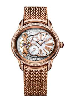 Audemars Piguet Millenary Hand-Wound 18K Pink Gold & Diamonds Ladies Watch 77247OR.ZZ.1272OR.01