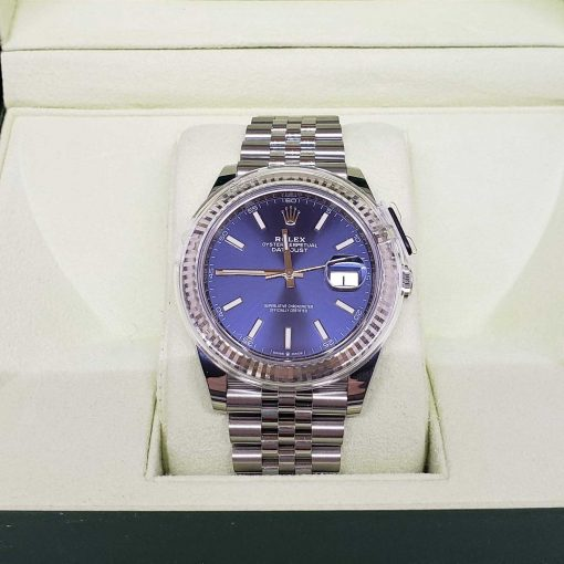 Rolex Oyster Perpetual Datejust 41 Stainless Steel & 18K White Gold Men's Watch, 126334-0002 3