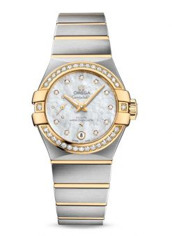 Omega Constellation Petite Seconde Co-Axial Master Stainless Steel & 18K Yellow Gold Ladies… 127.25.27.20.55.002