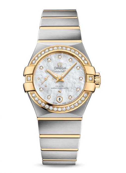 Omega Constellation Petite Seconde Co-Axial Master Stainless Steel & 18K Yellow Gold Ladies Watch, 127.25.27.20.55.002