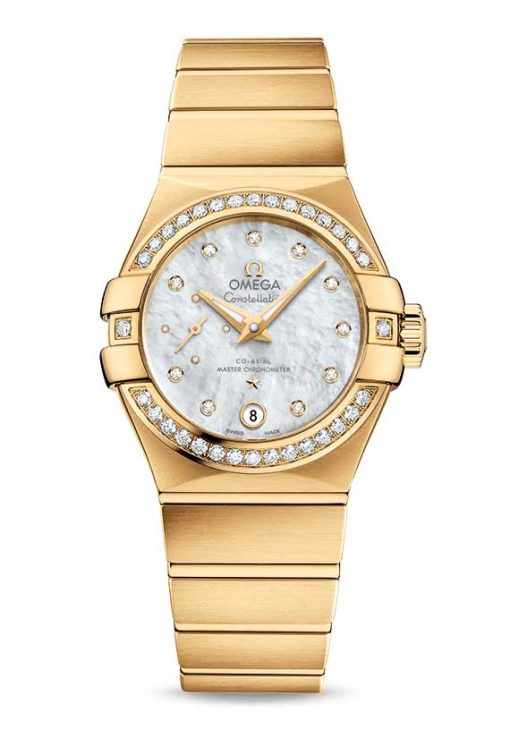 Omega Constellation Petite Seconde Co-Axial Master 18K Yellow Gold Ladies Watch, 127.55.27.20.55.002