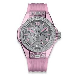 Hublot Big Bang 39 mm One Click Pink Sapphire Diamonds Limited Edition Ladies… 465.JP.4802.RT.1204