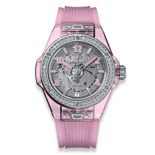 Hublot Big Bang 39 mm One Click Pink Sapphire Diamonds Limited Edition Ladies Watch, 465.JP.4802.RT.1204