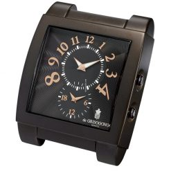 De Grisogono Table Travel Clock Brown UNO-DF-DECK-CLOCK-N01