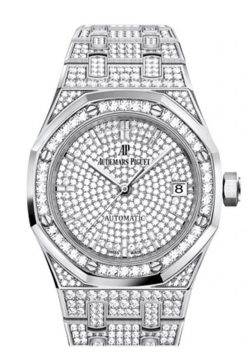 Audemars Piguet Royal Oak Jumbo Extra-Thin 18K White Gold & Diamonds Unisex Watch 15202BC.ZZ.1241BC.01