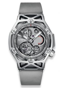 Hublot Techframe Ferrari Tourbillon Chronograph Sapphire White Gold Men's Watch 408.JW.0123.RX