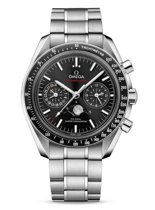 Omega Speedmaster Moonwatch Co-Axial Master Moonphase Stainless Steel Men`s Watch, 304.30.44.52.01.001