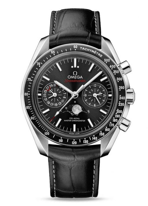 Omega Speedmaster Moonwatch Co-Axial Master Moonphase Stainless Steel Men`s Watch, 304.33.44.52.01.001