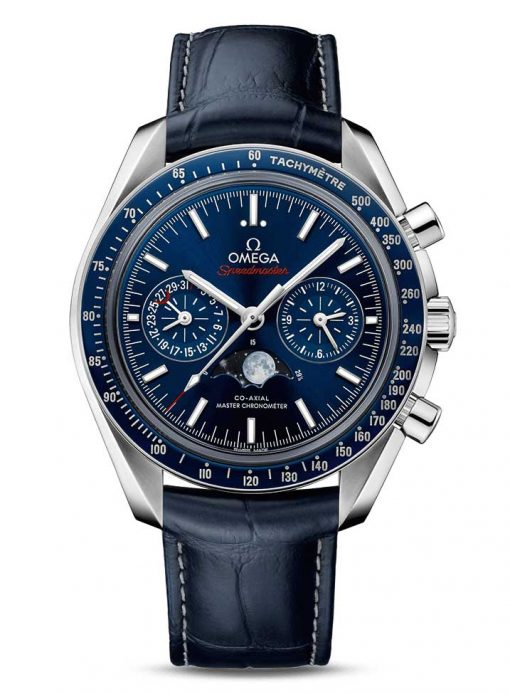 Omega Speedmaster Moonwatch Co-Axial Master Moonphase Stainless Steel Men`s Watch, 304.33.44.52.03.001
