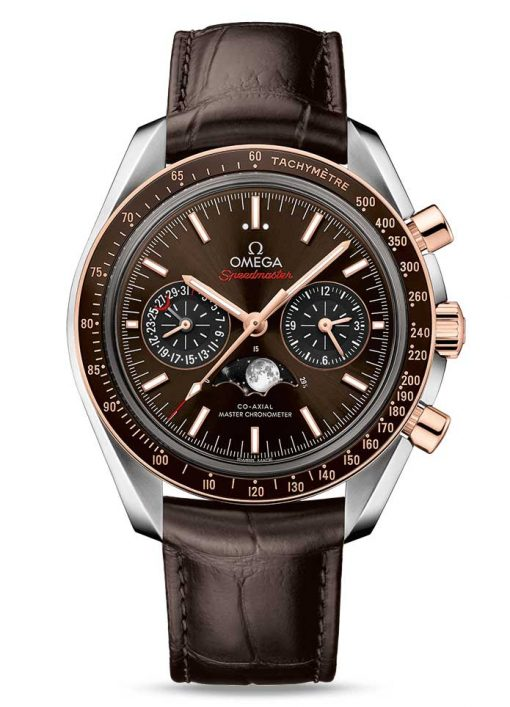 Omega Speedmaster Moonwatch Co-Axial Master Moonphase Stainless steel & 18K Sedna™ gold Men`s Watch, 304.23.44.52.13.001