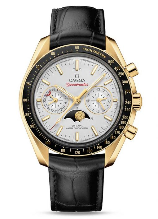 Omega Speedmaster Moonwatch Co-Axial Master Moonphase 18K Yellow gold Men`s Watch, 304.63.44.52.02.001