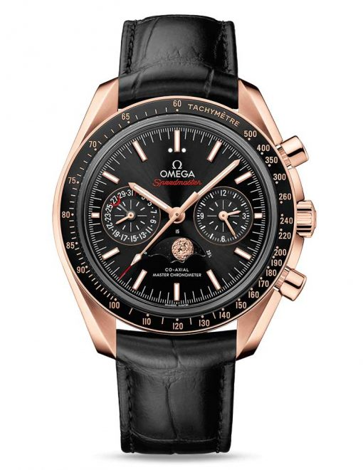 Omega Speedmaster Moonwatch Co-Axial Master Moonphase 18K Sedna™ gold Men`s Watch, 304.63.44.52.01.001