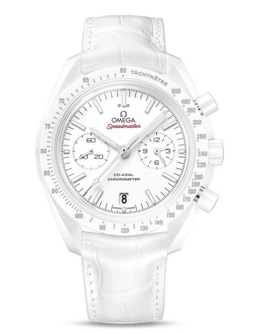"""Omega Speedmaster Moonwatch Co-Axial """"White Side of the Moon""""  Ceramic Men`s Watch, 311.93.44.51.04.002"""
