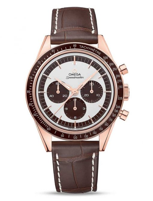 "Omega Speedmaster Moonwatch "" First Omega In Space"" 18K Sedna™ gold Men`s Watch, 311.63.40.30.02.001"