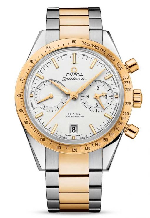 Omega Speedmaster '57 Co-Axial Chronograph Stainless Steel &18K Yellow Gold Men's Watch, 331.20.42.51.02.001