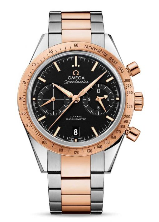 Omega Speedmaster '57 Co-Axial Chronograph Stainless Steel & 18K Red Gold Men's Watch, 331.20.42.51.01.002
