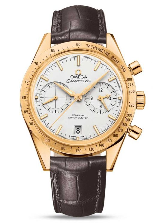 Omega Speedmaster '57 Co-Axial Chronograph 18K Yellow Gold Men's Watch, 331.53.42.51.02.001