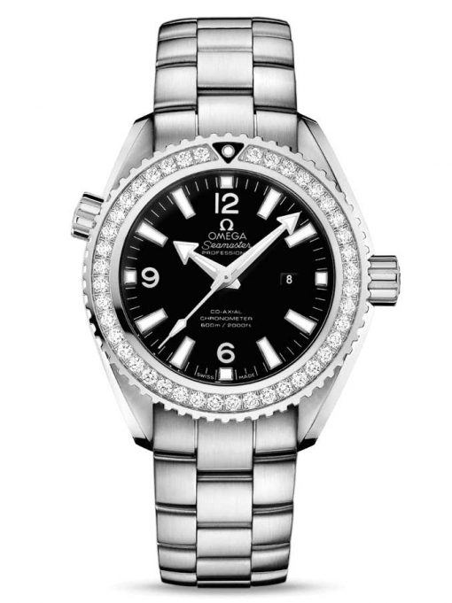 Omega Seamaster Planet Ocean Co-Axial Stainless Steel & Diamonds Unisex Watch, 232.15.38.20.01.001