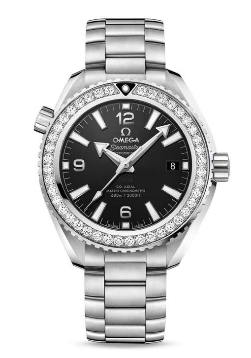 Omega Seamaster Planet Ocean Co-Axial Master Stainless Steel & Diamonds Unisex Watch, 215.15.40.20.01.001