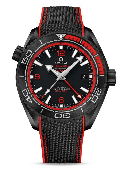Omega Seamaster Planet Ocean Co-Axial Master Chronometer GMT Ceramic Men's Watch, 215.92.46.22.01.003