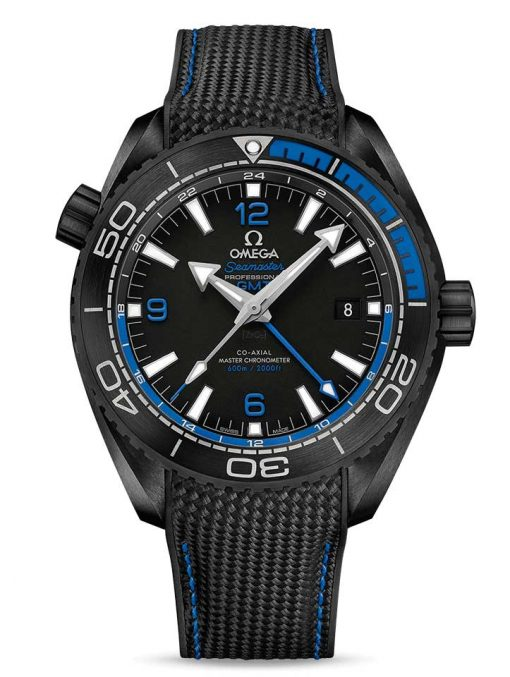 Omega Seamaster Planet Ocean Co-Axial Master Chronometer GMT Ceramic Men's Watch, 215.92.46.22.01.002