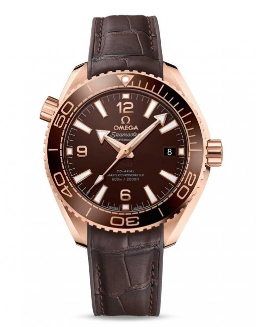 Omega Seamaster Planet Ocean Co-Axial Master 18K Sedna™ Gold Men's Watch, 215.63.40.20.13.001