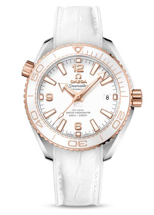 Omega Seamaster Planet Ocean Co-Axial Master 18K Sedna™ Gold & Stainless Steel Unisex Watch, 215.23.40.20.04.001