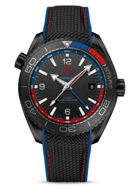 "Omega Seamaster Planet Ocean Co-Axial Master ""ETNZ"" Deep Black Chronometer GMT Ceramic Men's Watch, 215.92.46.22.01.004"