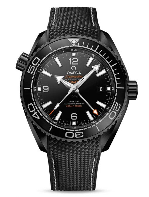 "Omega Seamaster Planet Ocean Co-Axial Master ""Deep Black"" Chronometer GMT Ceramic Men's Watch, 215.92.46.22.01.001"