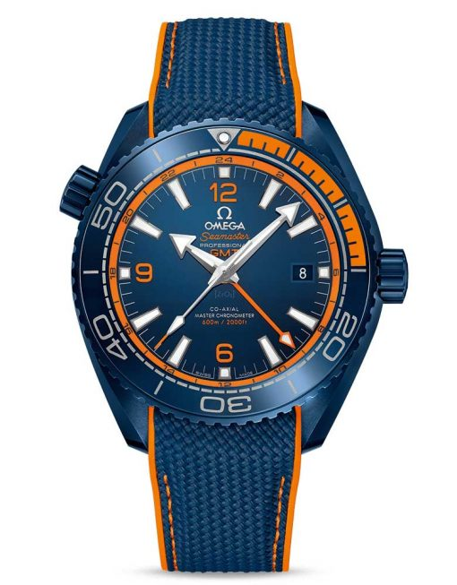 "Omega Seamaster Planet Ocean Co-Axial Master "" Big Blue"" Chronometer GMT Ceramic Men's Watch, 215.92.46.22.03.001"