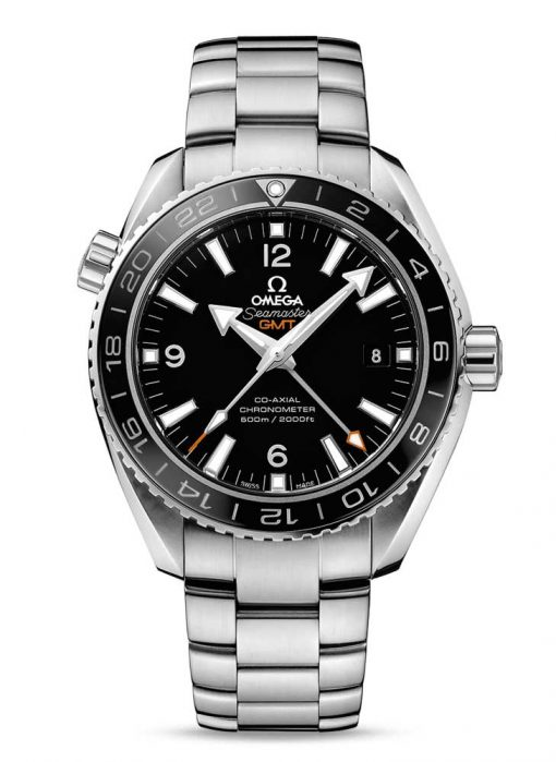 Omega Seamaster Planet Ocean Co-Axial GMT Stainless Steel Men's Watch, 232.30.44.22.01.001