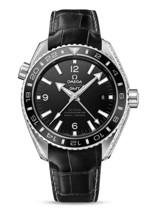 Omega Seamaster Planet Ocean Co-Axial GMT Limited Edition 950-Platinum & Diamonds Men's Watch, 232.98.44.22.01.001