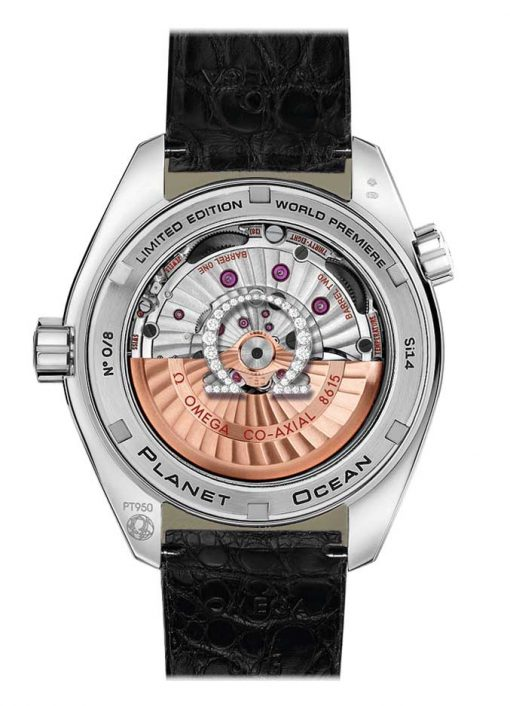 Omega Seamaster Planet Ocean Co-Axial GMT Limited Edition 950-Platinum & Diamonds Men's Watch, 232.98.44.22.01.001 3